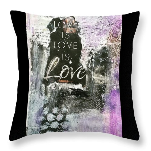 Love Throw Pillow featuring the painting Love is Love by Patricia Byron