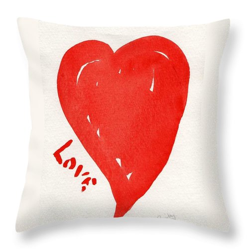 Love Throw Pillow featuring the painting Love Is.... by Roger Cummiskey