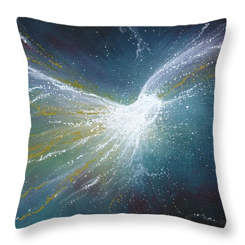 Angel Throw Pillow featuring the painting Love Is The Message by Naomi Walker