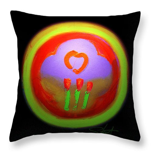 Love Throw Pillow featuring the painting Love Landscape Three by Charles Stuart