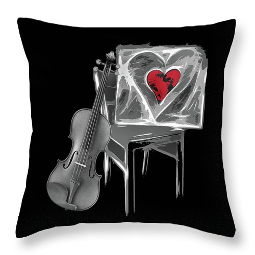 Love Throw Pillow featuring the photograph Love Melody by Manfred Lutzius