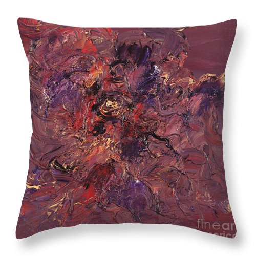 Love Throw Pillow featuring the painting Love by Nadine Rippelmeyer
