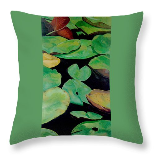 Love Throw Pillow featuring the painting Love by Racquel Morgan