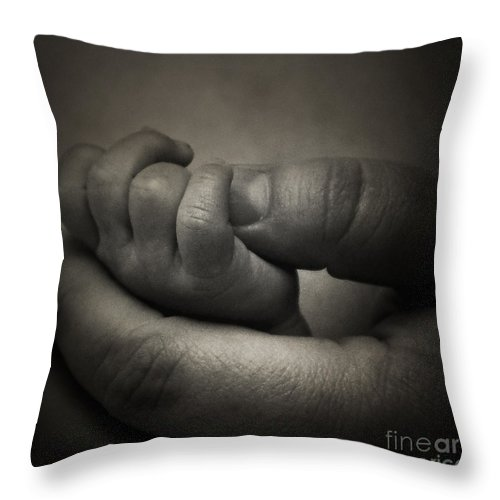 Hand Throw Pillow featuring the photograph Love by Scott Pellegrin