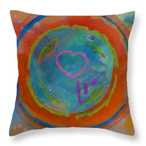 Logo Throw Pillow featuring the painting Love The Sea by Charles Stuart