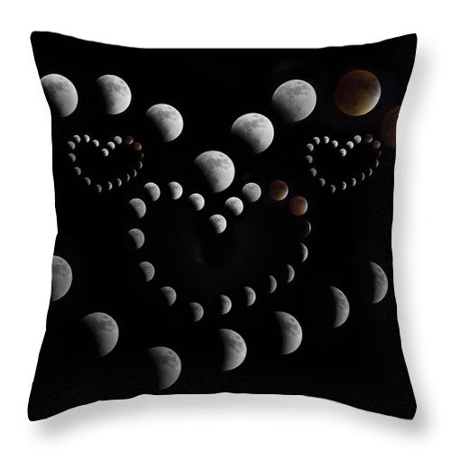 Lunar Throw Pillow featuring the photograph Love You To The Moon And Back by Betsy Knapp