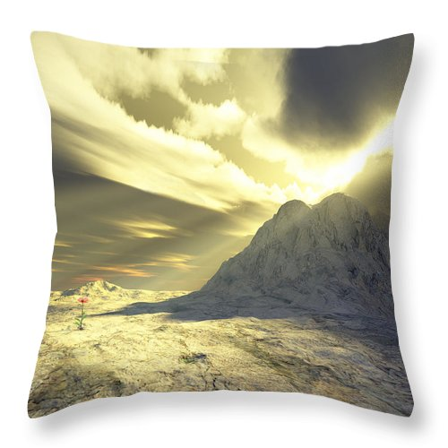 Loved Throw Pillow featuring the digital art Loved - Never Forgotten by Jennifer Kathleen Phillips
