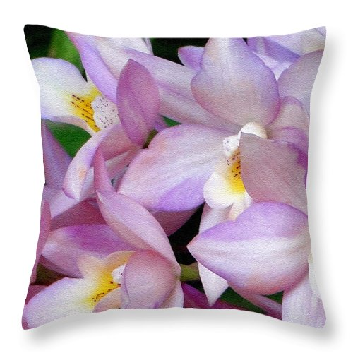 Orchid Throw Pillow featuring the photograph Lovely Orchid Family by Sue Melvin