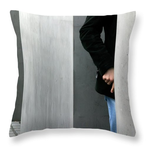 Berlin Throw Pillow featuring the photograph Lovers In Berlin by KG Thienemann