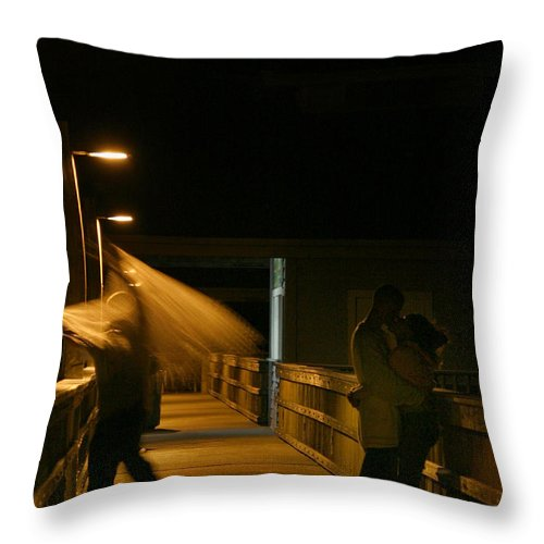 Lovers Throw Pillow featuring the photograph Lovers by Joseph G Holland