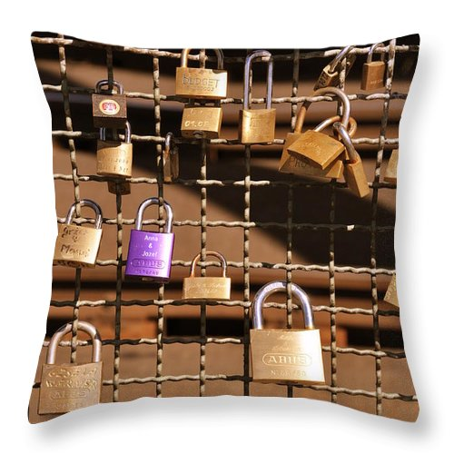 Art Throw Pillow featuring the photograph Lovers Locks 2 by Noah Cole