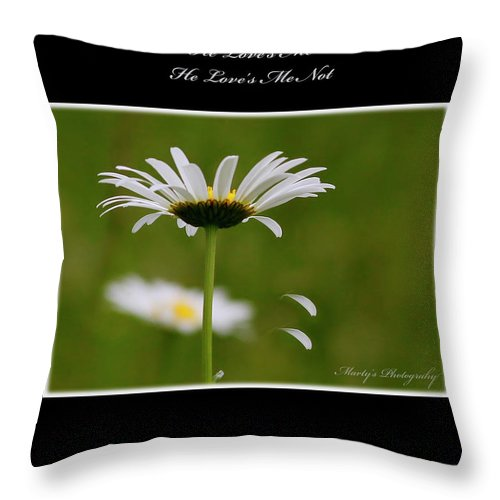 Flower Throw Pillow featuring the photograph Love's Me by Marty Maynard