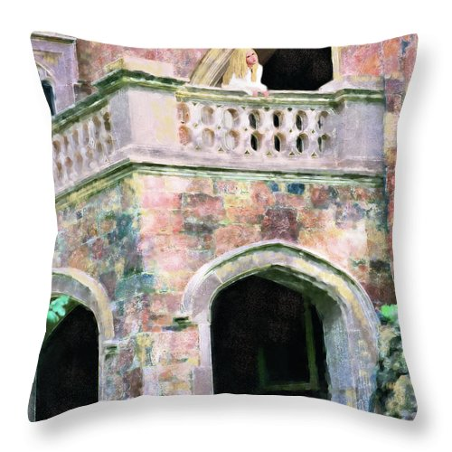 Bride Throw Pillow featuring the painting Lovesick Bride by Constance Woods