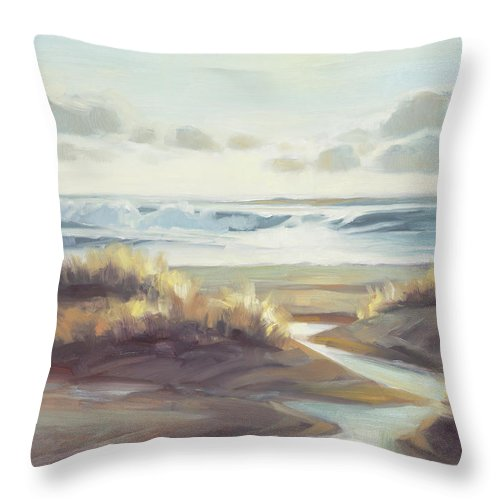 Ocean Throw Pillow featuring the painting Low Tide by Steve Henderson