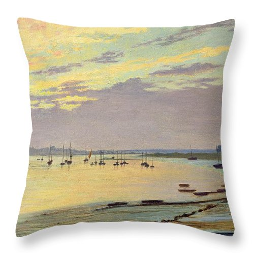 Low Throw Pillow featuring the painting Low Tide by W Savage Cooper