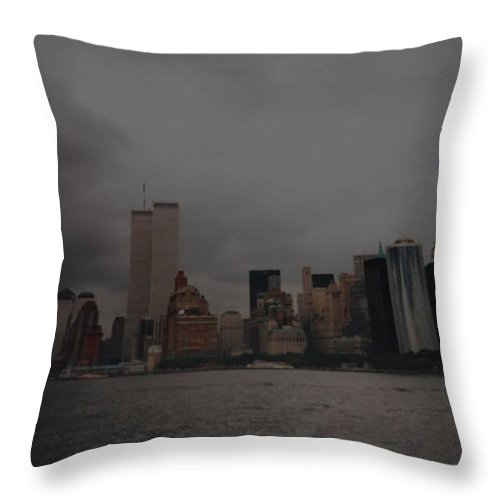 Wtc Throw Pillow featuring the photograph Lower Manhattan by Rob Hans
