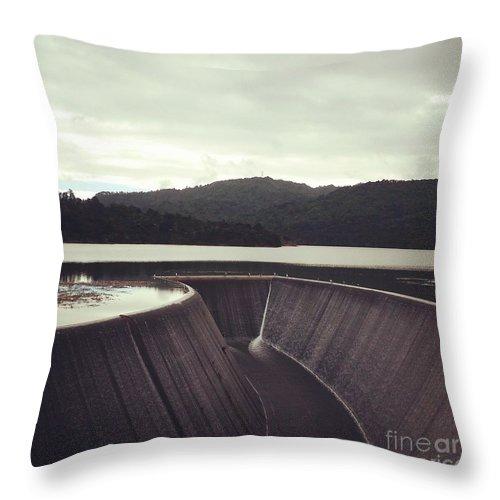 Dam Throw Pillow featuring the photograph Lower Nihotipu Dam by Cameron Nichols