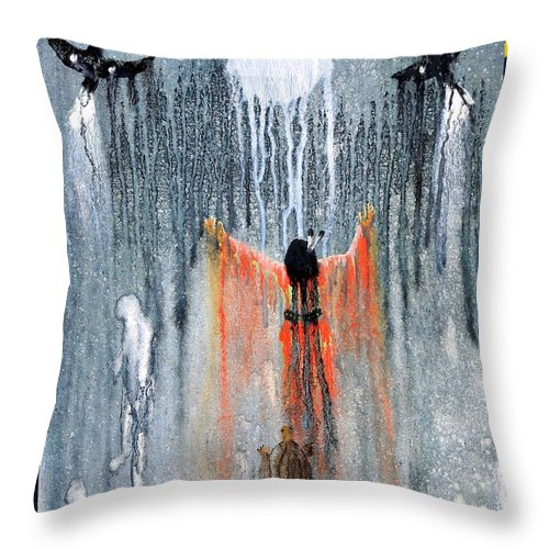 Art Throw Pillow featuring the painting Lozen by Patrick Trotter