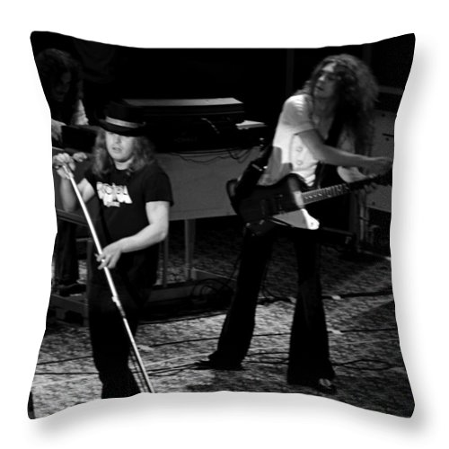 Lynyrd Skynyrd Throw Pillow featuring the photograph Ls #40 by Ben Upham