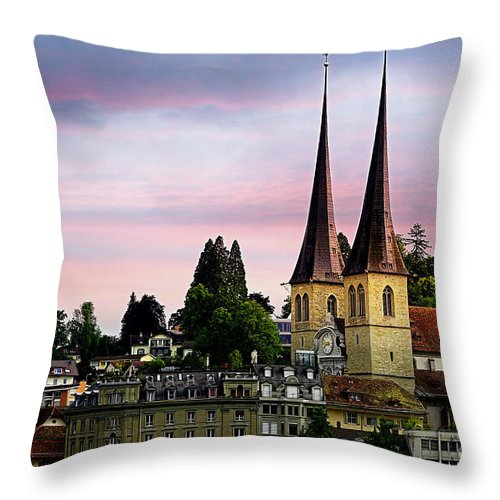 Lucerne Throw Pillow featuring the photograph Lucerne 8 by Ben Yassa