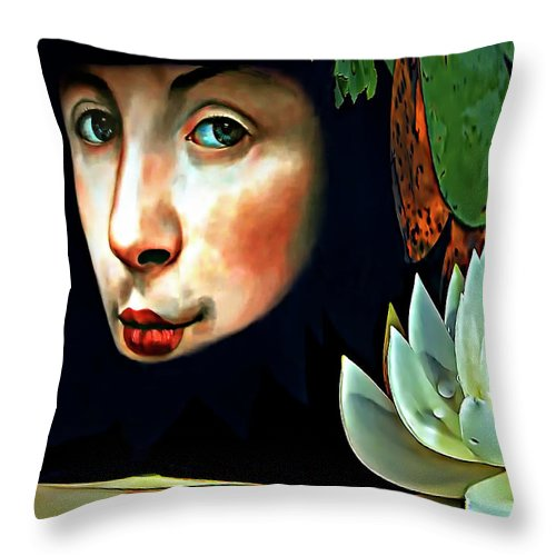 Beatles Throw Pillow featuring the photograph Lucy In The Sky With Diamonds by Steve Harrington
