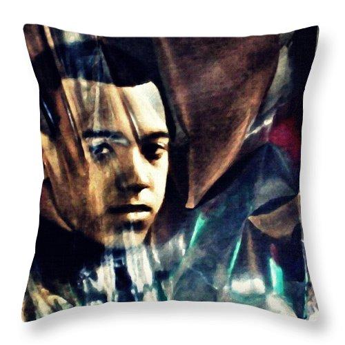 Young Man Throw Pillow featuring the photograph Luke by Sarah Loft