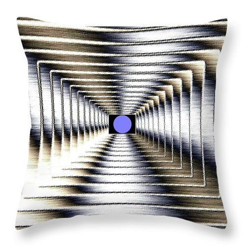 Abstract Throw Pillow featuring the digital art Luminous Energy 6 by Will Borden