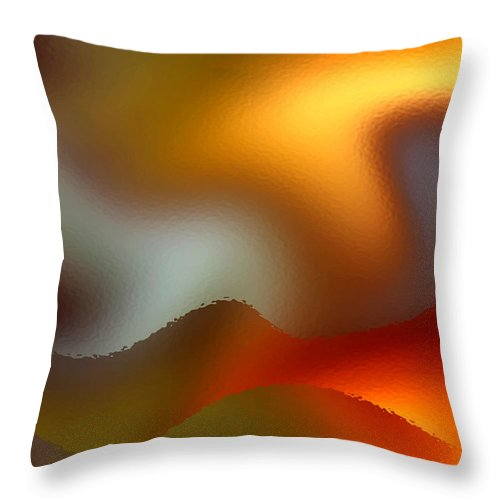 Abstract Throw Pillow featuring the digital art Luminous Waves by Ruth Palmer