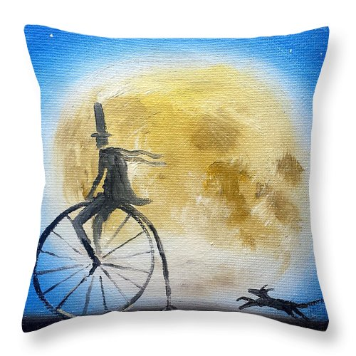 Oil Painting Throw Pillow featuring the painting Lunar Cycle No 2 by Jason Etienne