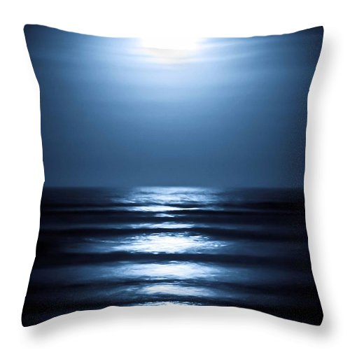Lunar Throw Pillow featuring the photograph Lunar Dreams by DigiArt Diaries by Vicky B Fuller