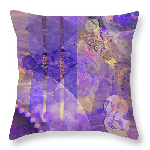 Lunar Impressions 2 Throw Pillow featuring the digital art Lunar Impressions 2 by John Beck