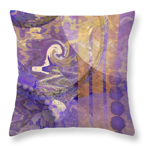 Lunar Impressions Throw Pillow featuring the digital art Lunar Impressions by John Beck