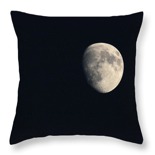 Moon Throw Pillow featuring the photograph Lunar Surface by Angela Rath