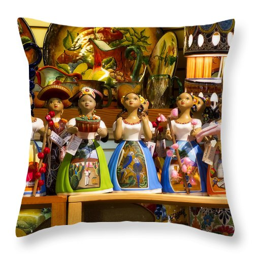 Lupita Throw Pillow featuring the photograph Lupitas by Steven Sparks
