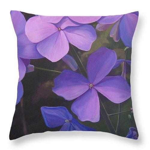 Closeup Of Colorado Wildflower Near Durango Throw Pillow featuring the painting Lush Life by Hunter Jay