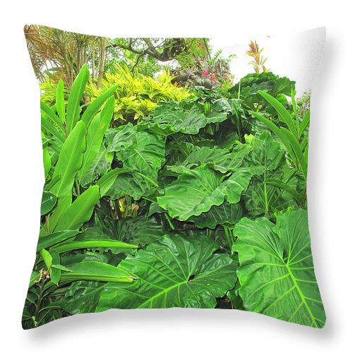 Vegetation Throw Pillow featuring the photograph Lust Too by Ian MacDonald