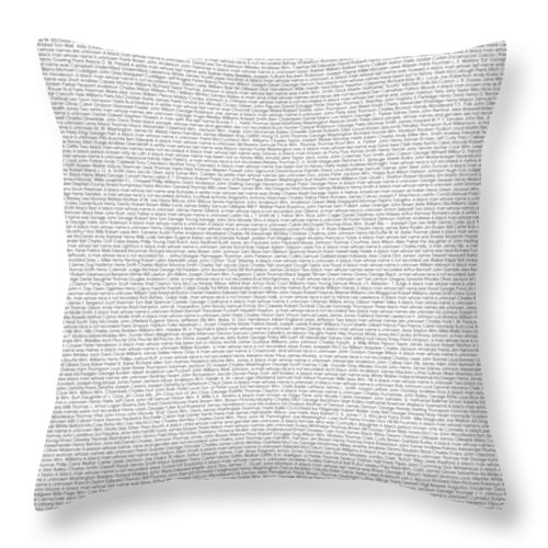 Ashes To Ashes Throw Pillow featuring the digital art Lynched in The USA by Shirley Whitaker