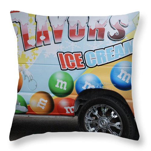 Sponge Bob Throw Pillow featuring the photograph M And M Flavors For The Kids by Rob Hans