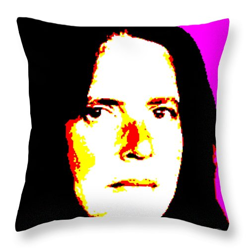 Square Throw Pillow featuring the digital art Ma Jaya Sati Bhagavati 1 by Eikoni Images