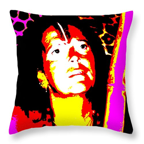 Square Throw Pillow featuring the digital art Ma Jaya Sati Bhagavati 10 by Eikoni Images