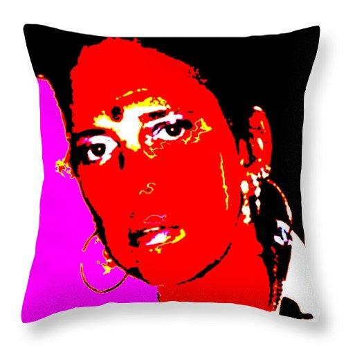 Square Throw Pillow featuring the digital art Ma Jaya Sati Bhagavati 11 by Eikoni Images