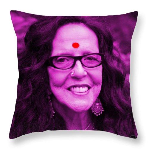 Square Throw Pillow featuring the digital art Ma Jaya Sati Bhagavati 12 by Eikoni Images