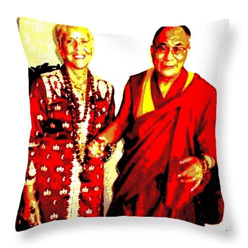 Square Throw Pillow featuring the digital art Ma Jaya Sati Bhagavati 13 by Eikoni Images