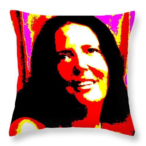 Square Throw Pillow featuring the digital art Ma Jaya Sati Bhagavati 14 by Eikoni Images