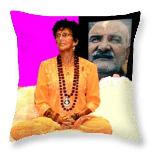 Square Throw Pillow featuring the digital art Ma Jaya Sati Bhagavati 15 by Eikoni Images