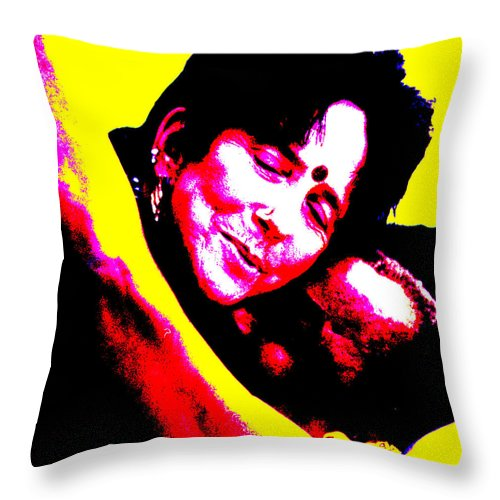 Square Throw Pillow featuring the digital art Ma Jaya Sati Bhagavati 17 by Eikoni Images