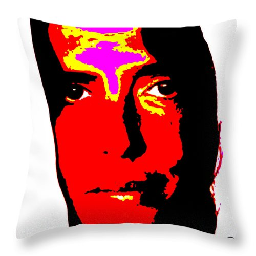 Square Throw Pillow featuring the digital art Ma Jaya Sati Bhagavati 2 by Eikoni Images