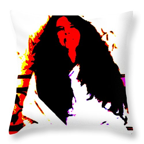 Square Throw Pillow featuring the digital art Ma Jaya Sati Bhagavati 3 by Eikoni Images
