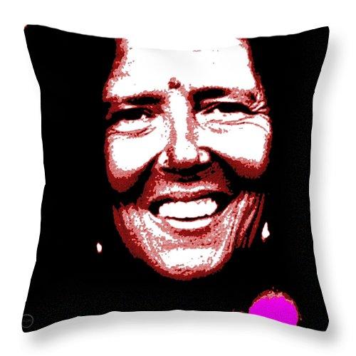 Square Throw Pillow featuring the digital art Ma Jaya Sati Bhagavati 4 by Eikoni Images