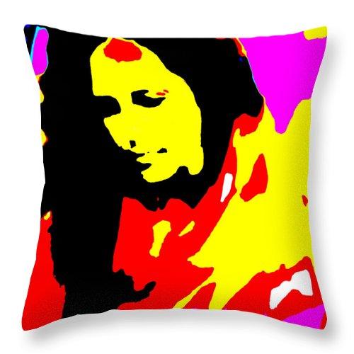 Square Throw Pillow featuring the digital art Ma Jaya Sati Bhagavati 5 by Eikoni Images